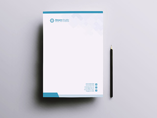 1 Colour Letterhead